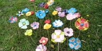 fleurs réalisées au cours enfants